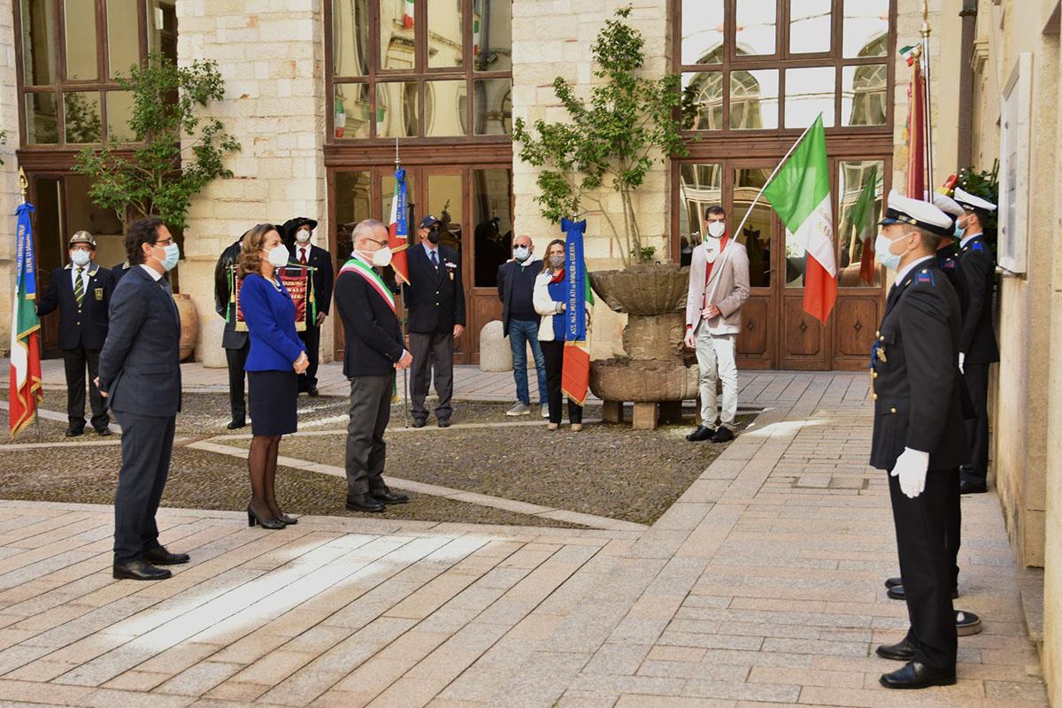 Sassari, celebrazioni per il 76esimo anniversario della Liberazione
