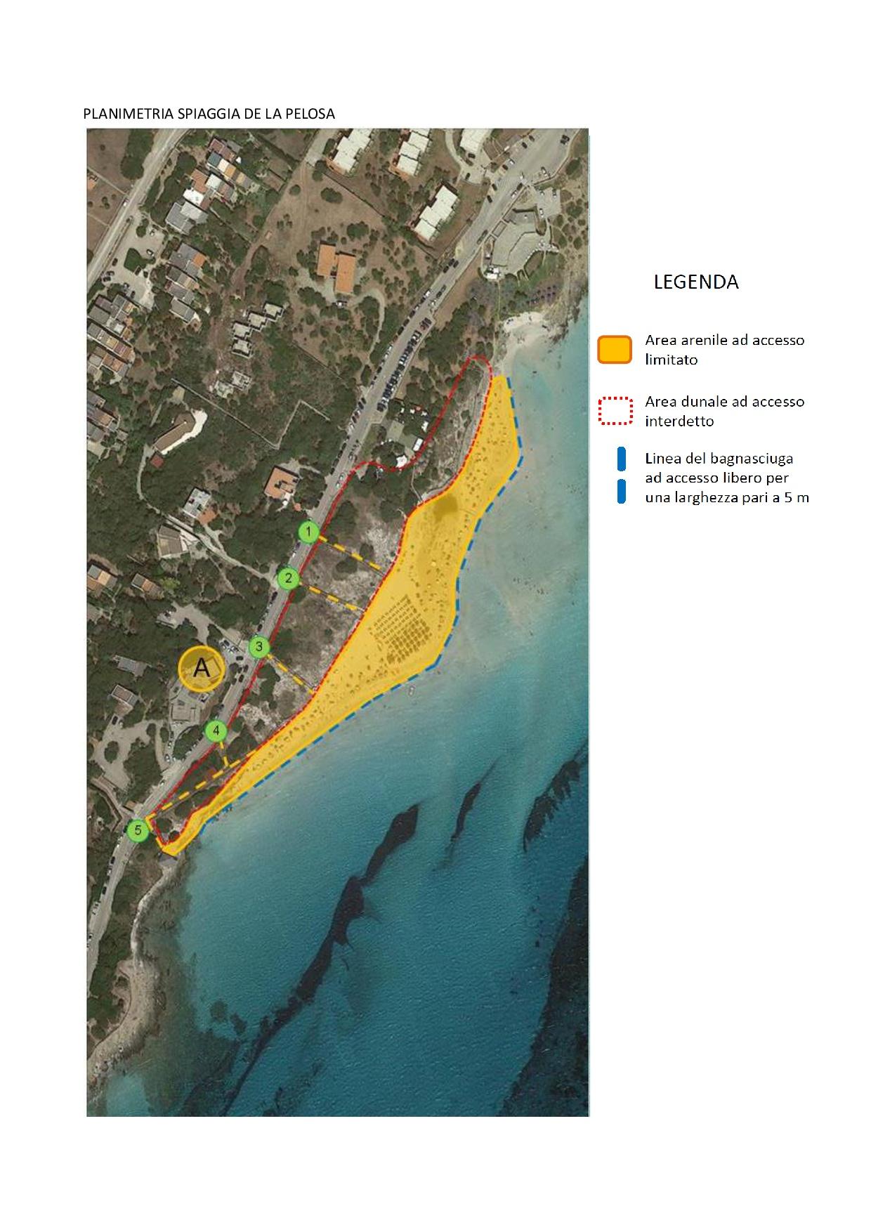 Stintino. Confini numero chiuso spiaggia Pelosa