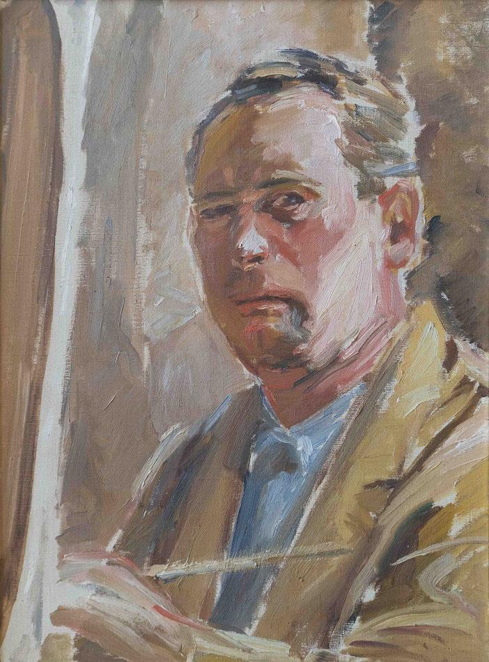 Richard Scheurlen Autoritratto - 1934 olio su tela 59x44