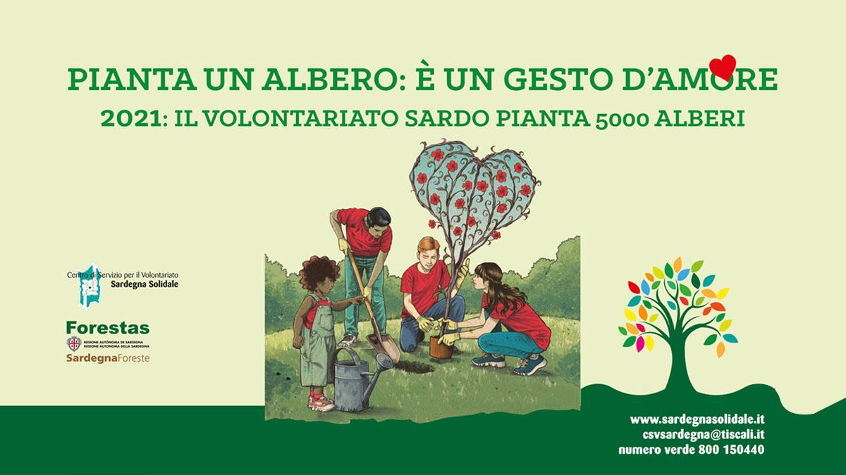 Pianta un albero di Sardegna Solidale